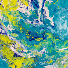 Load image into Gallery viewer, Paint Pour is an fun and experimental technique that is great for all experience levels. Try a Paint Pour Class at Artfull in Des Moines Iowa, an arts and crafts playground.