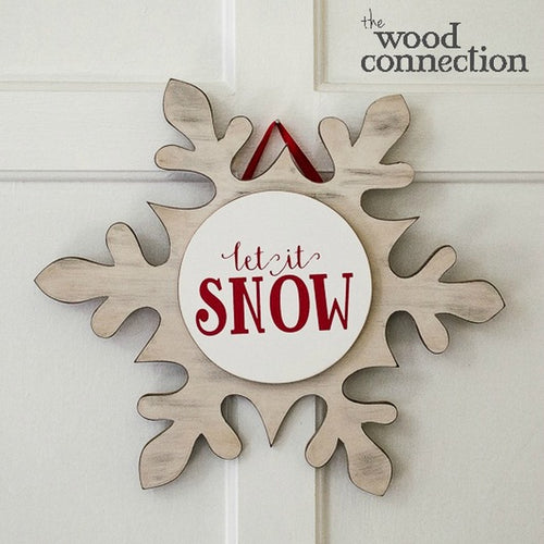 Snowflake Door Sign Workshop: Wednesday, January 8th from 7-9pm