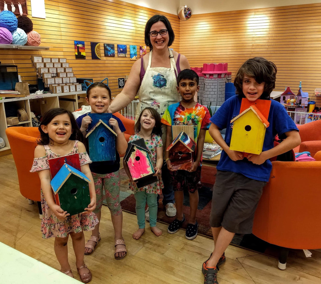 Wooden Birdhouse Workshop: Sunday, April 19th from 1-3 PM