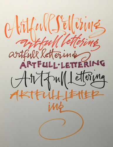 Artfull Lettering, 2nd Wednesday of the Month 1-3pm