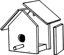 Load image into Gallery viewer, Wooden Birdhouse Workshop: Sunday, April 19th from 1-3 PM