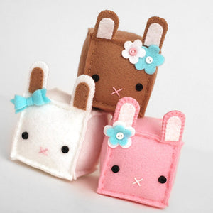 Square Bunny Plush Sewing Kit