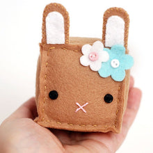 Load image into Gallery viewer, Square Bunny Plush Sewing Kit