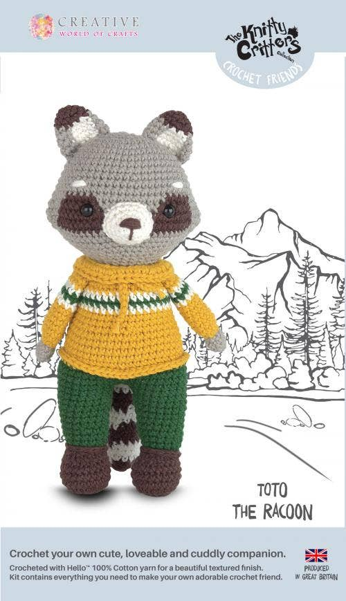 Toto the Racoon Crochet Kit