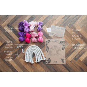 Macrame Rainbow Kits for Kids