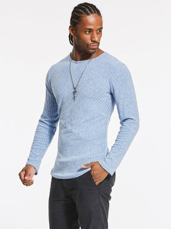 Round Neck Wrapped Long Sleeve Men's T-shirts