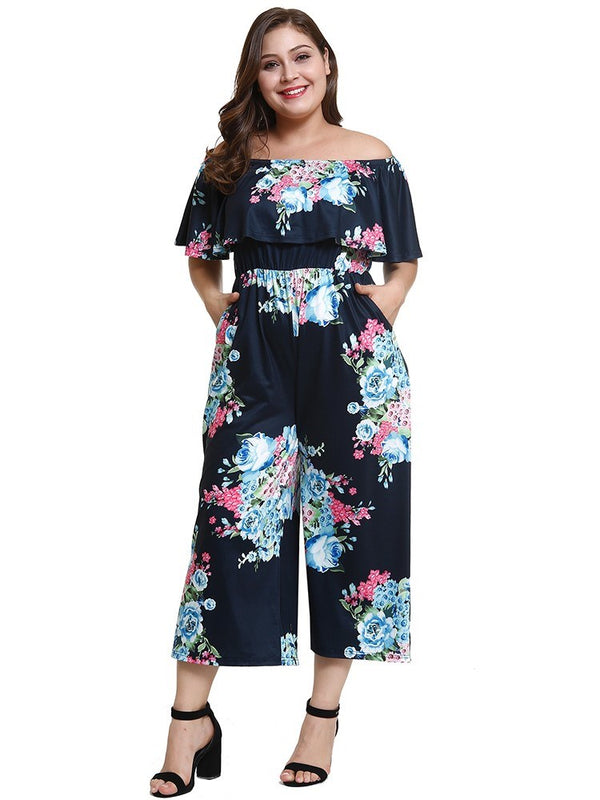 Ankle Length Pocket Casual Wide Legs Loose Jumpsuit