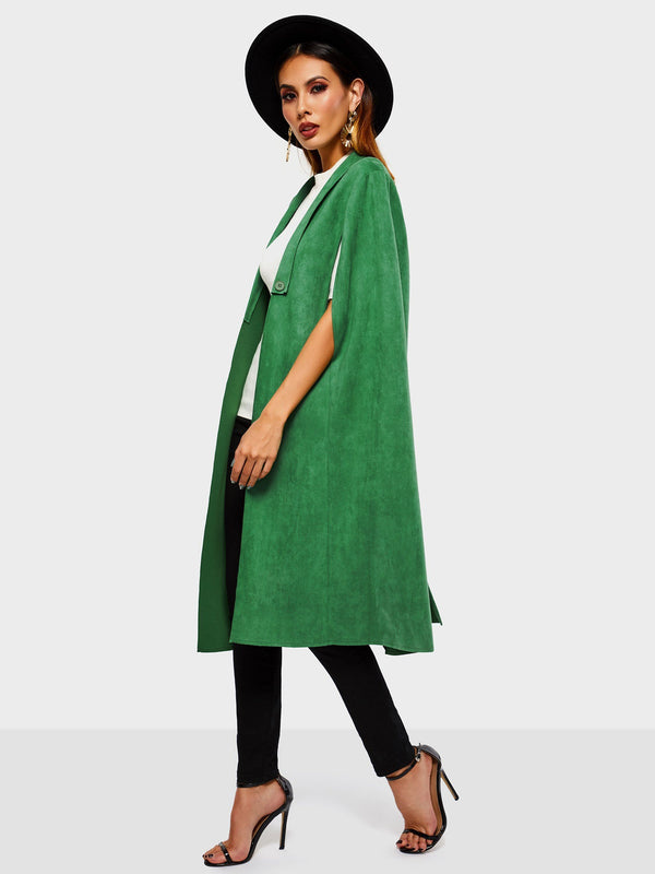 Western Suede Thick Fall Cape Coats