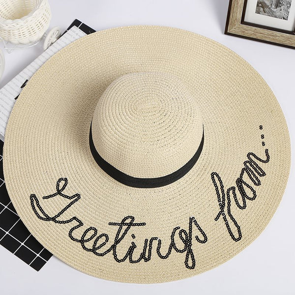 Straw Plaited Article 3D Sun Hat Plain Hats