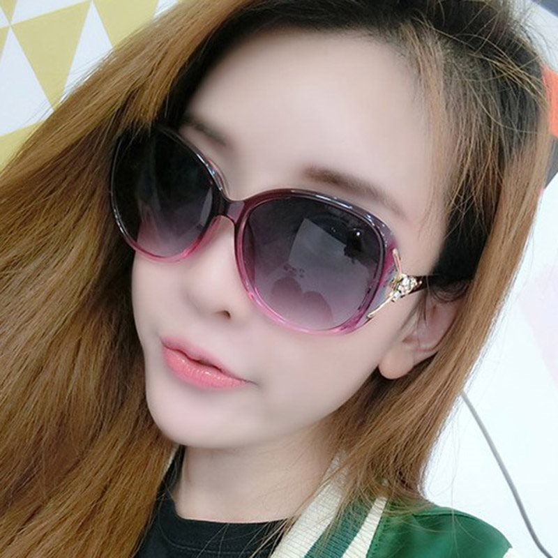 Anti UV Resin Oval Sunglasses