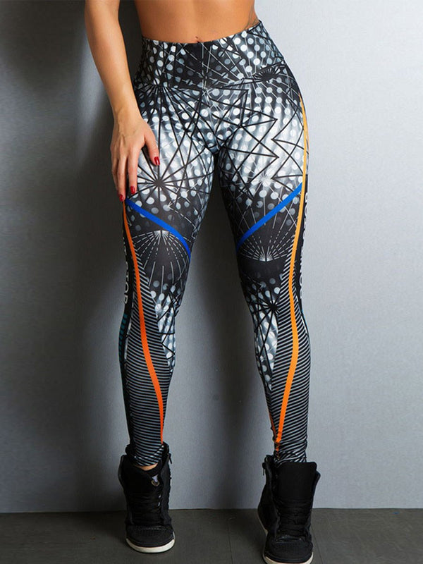 Breathable Print Polyester Letter Ping-Pong Spring Female Pants Sports Bottoms