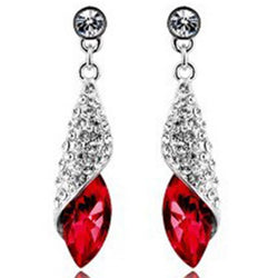 Diamante Alloy Water Drop Prom Earrings