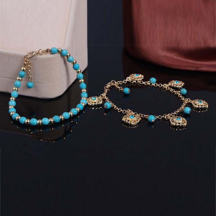 Spherical Bohemian Female Anklets Anklets