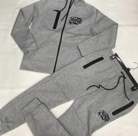 Raqs gear fleece tech suit smoke grey