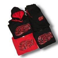 RaqsGear pullover sweat suit (blk&red)