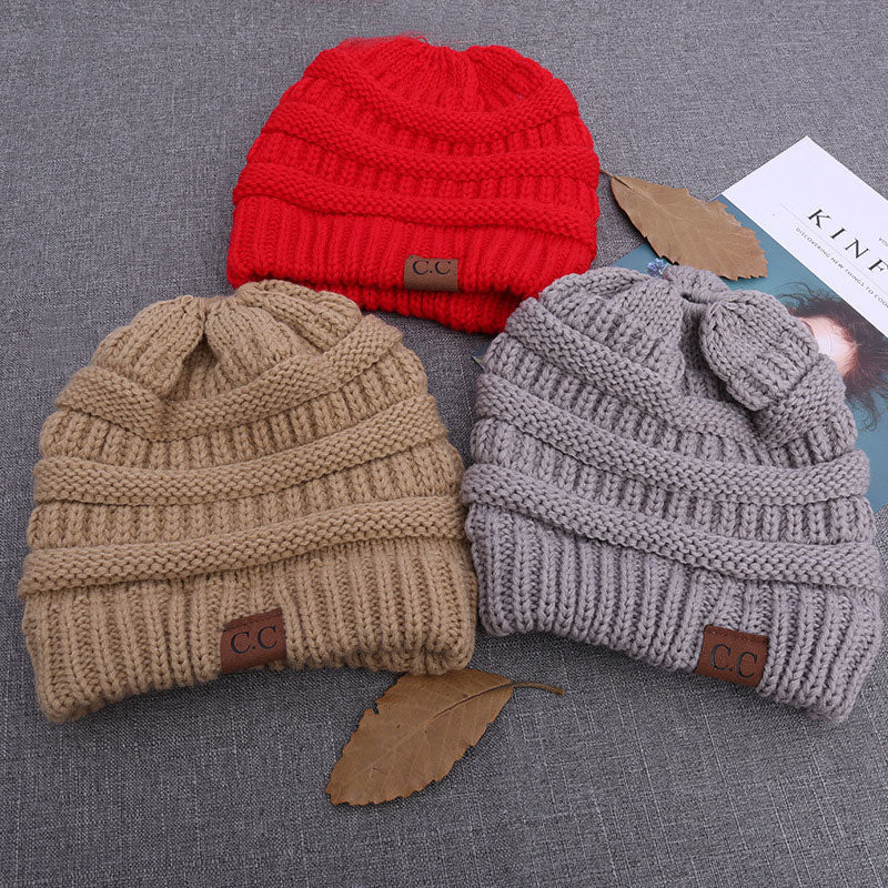 Soft Knit Ponytail Beanie Winter Hats for Women Messy Bun Cap Knitted –  AICVLGR Apparel 66dc4b17dd77