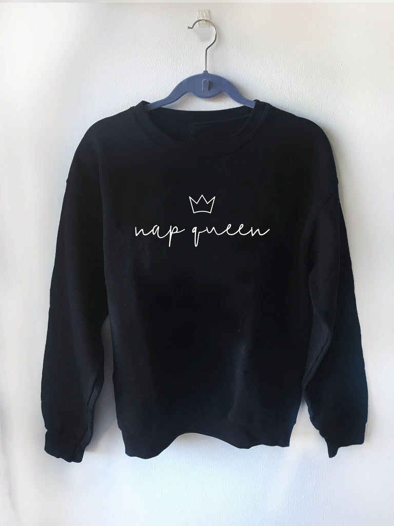 nap queen sweater, nap queen, trap queen, minimalist, gift for her, I love naps, oversized sweatshirt, crewneck, unisex, gift for him, funny