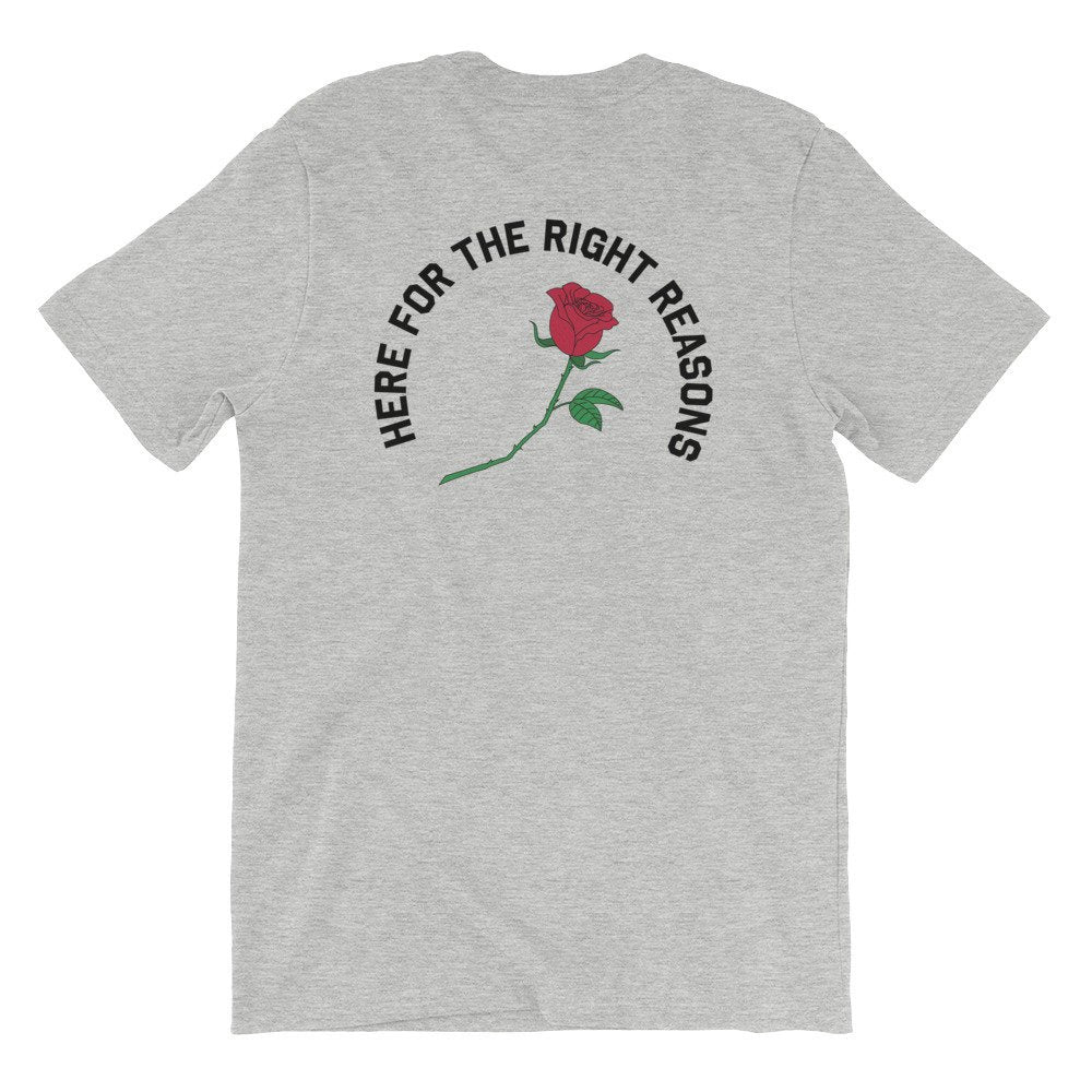 Here For The Right Reasons Graphic Tee - pinksundays