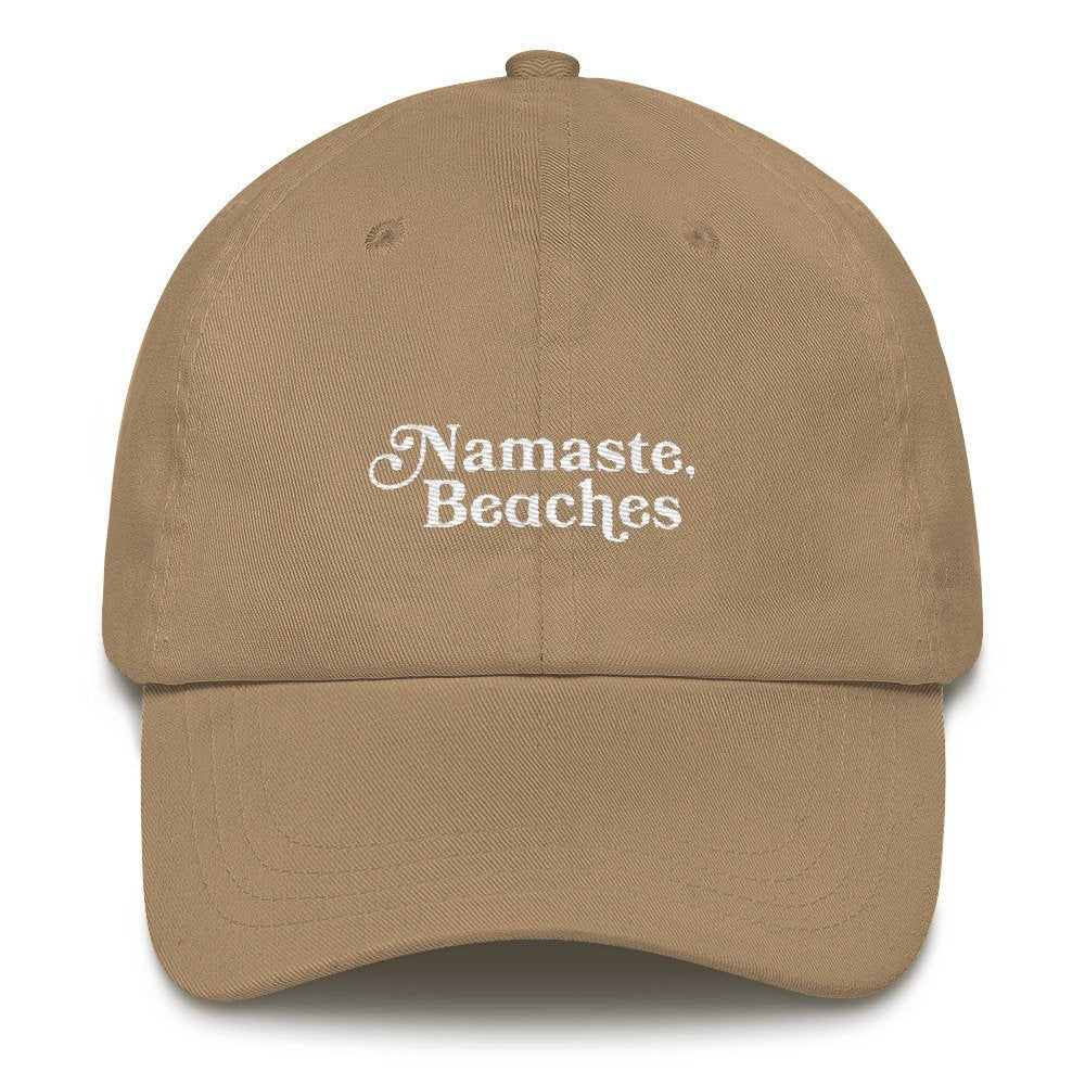 Namaste Beaches Dad Hat - pinksundays