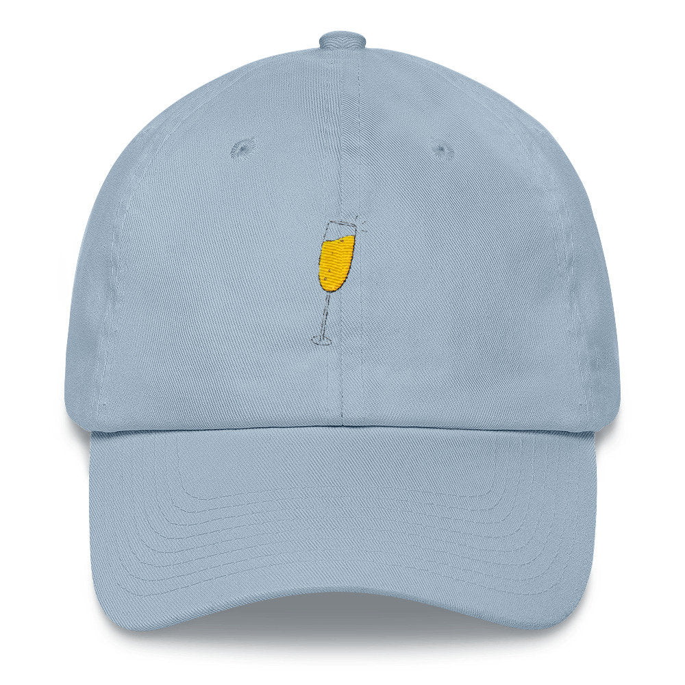 Champagne Glass Dad Hat - pinksundays