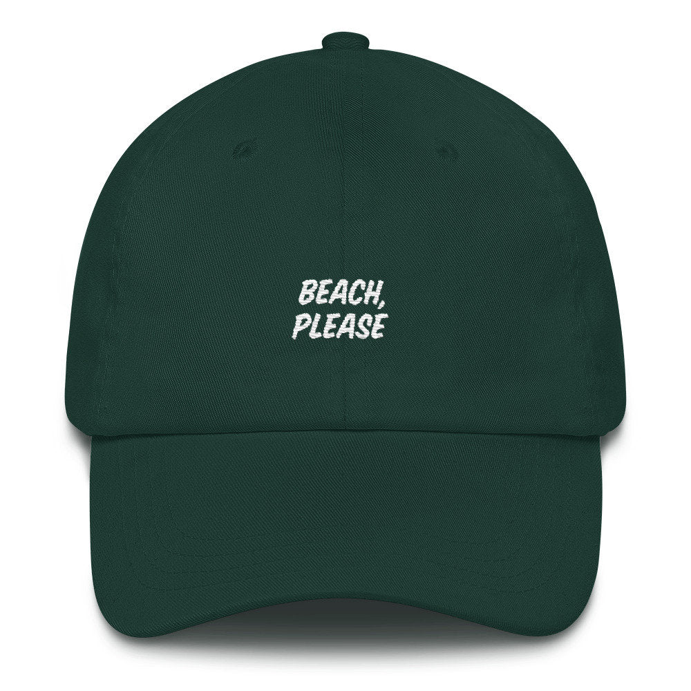 Beach Please Dad Hat - pinksundays