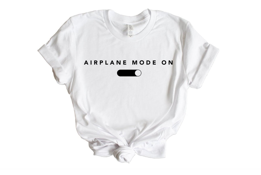 Airplane Mode On Graphic Tee - pinksundays