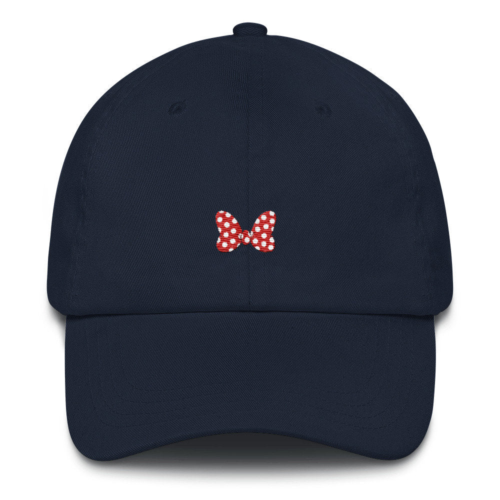 Minnie Bow Dad Hat - pinksundays