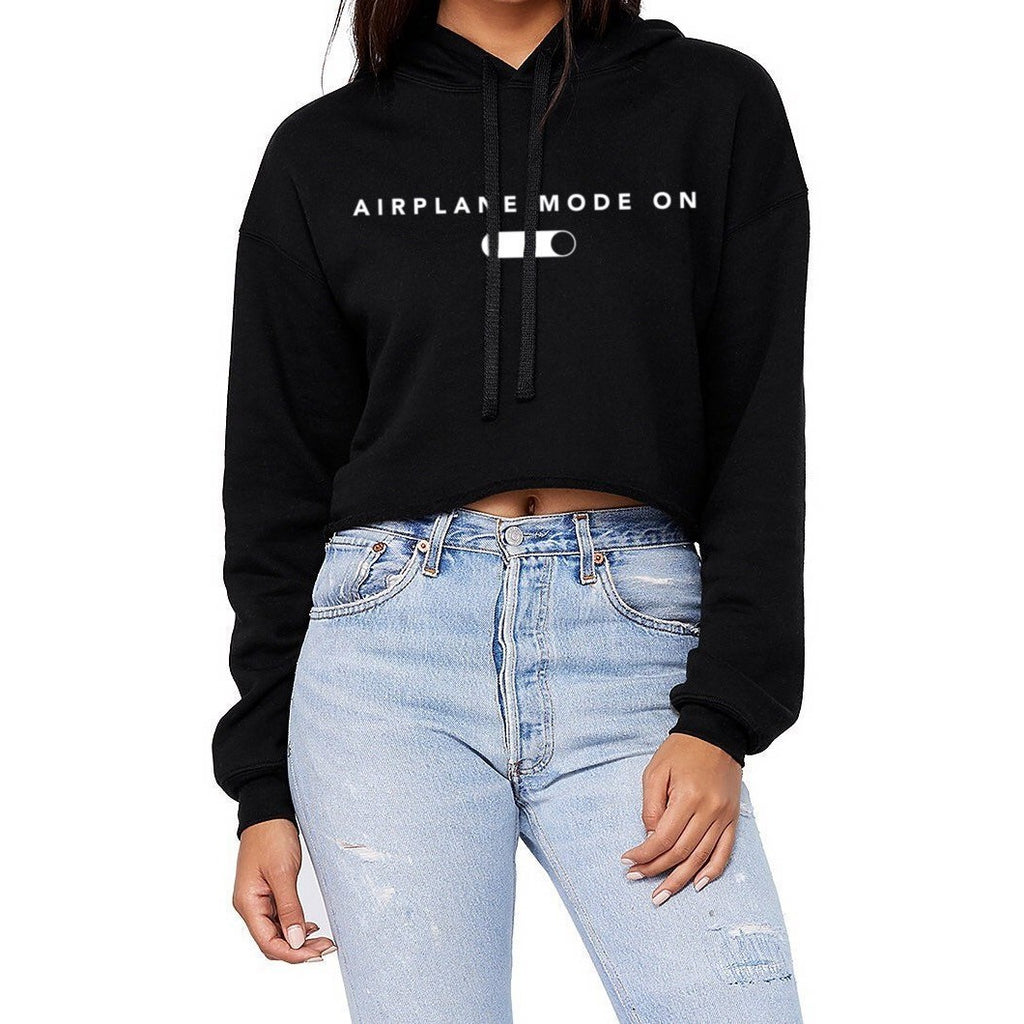 Airplane Mode On Cropped Hoodie - pinksundays