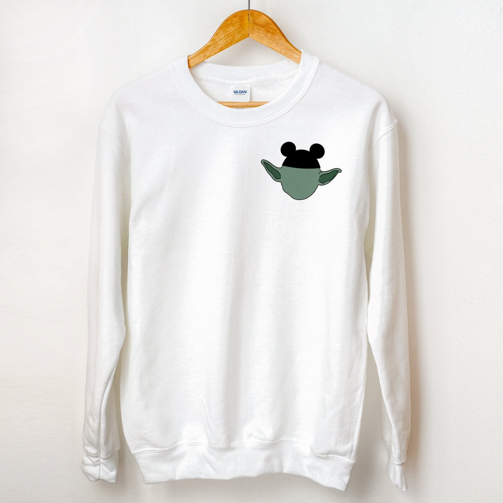 Mouse Ears Yoda Pocket Detail Sweater - pinksundays