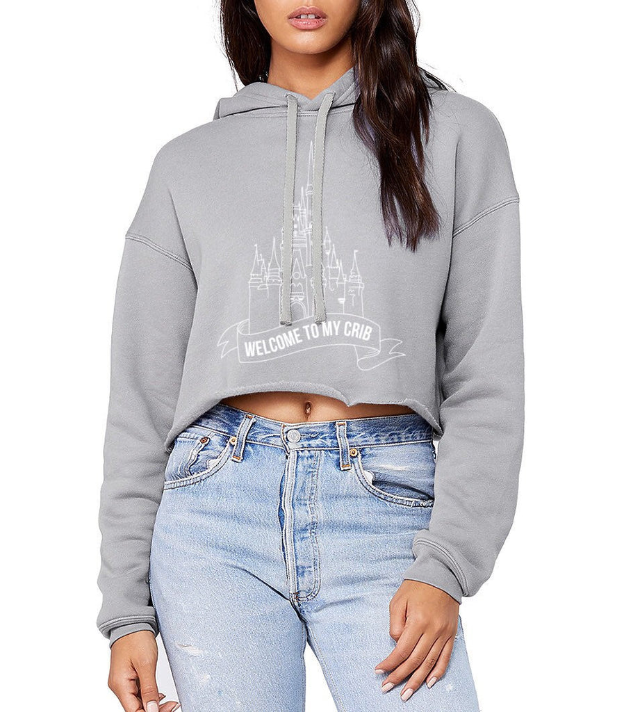 Welcome To My Crib Cropped Hoodie - pinksundays