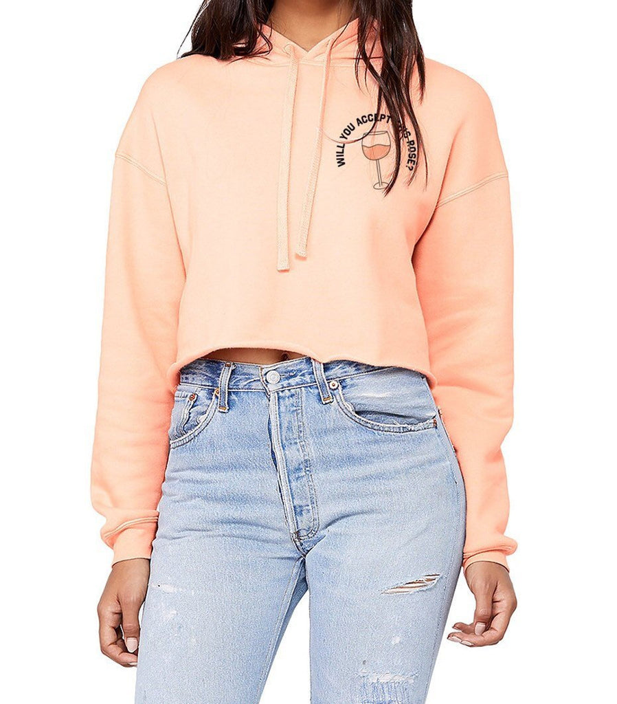 Will You Accept This Rosé Cropped Hoodie - pinksundays