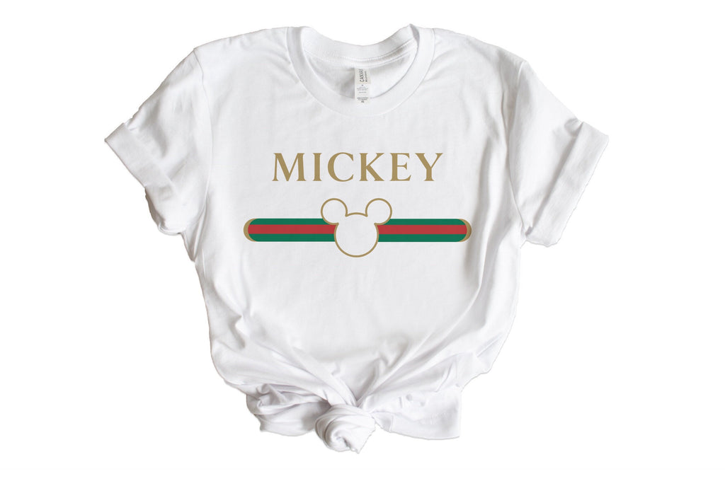 designer Inspired Mickey Graphic Tee, cute disney tshirts, disneyland shirt, mickey tshirt, designer tshirts, birthday gift, holiday gift