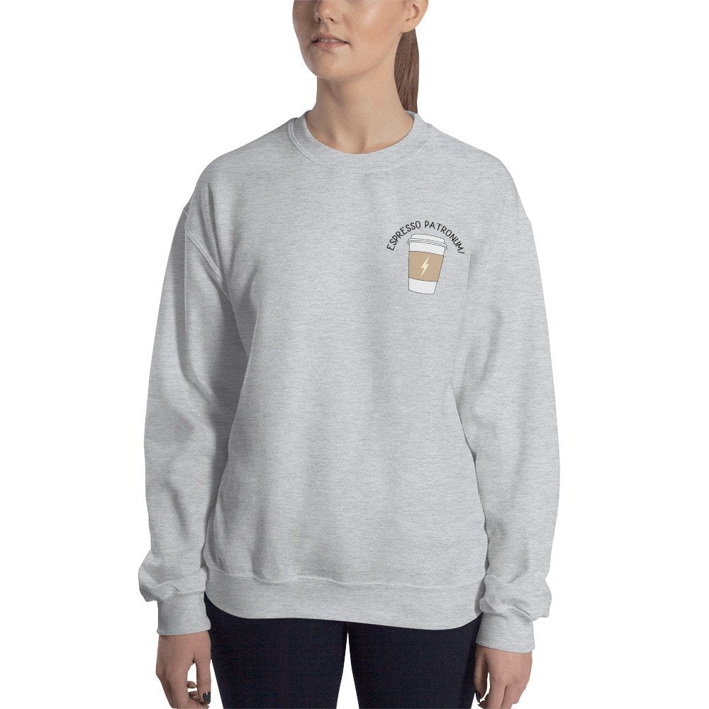 Espresso Patronum Pocket Detail Sweater - pinksundays