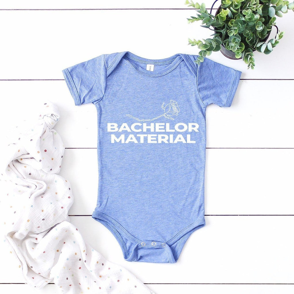 Bachelor Material Baby Bodysuit, bachelor baby outfit, funny bachelor onesie, baby boy gift, baby gift ideas, bachelor nation baby onesie