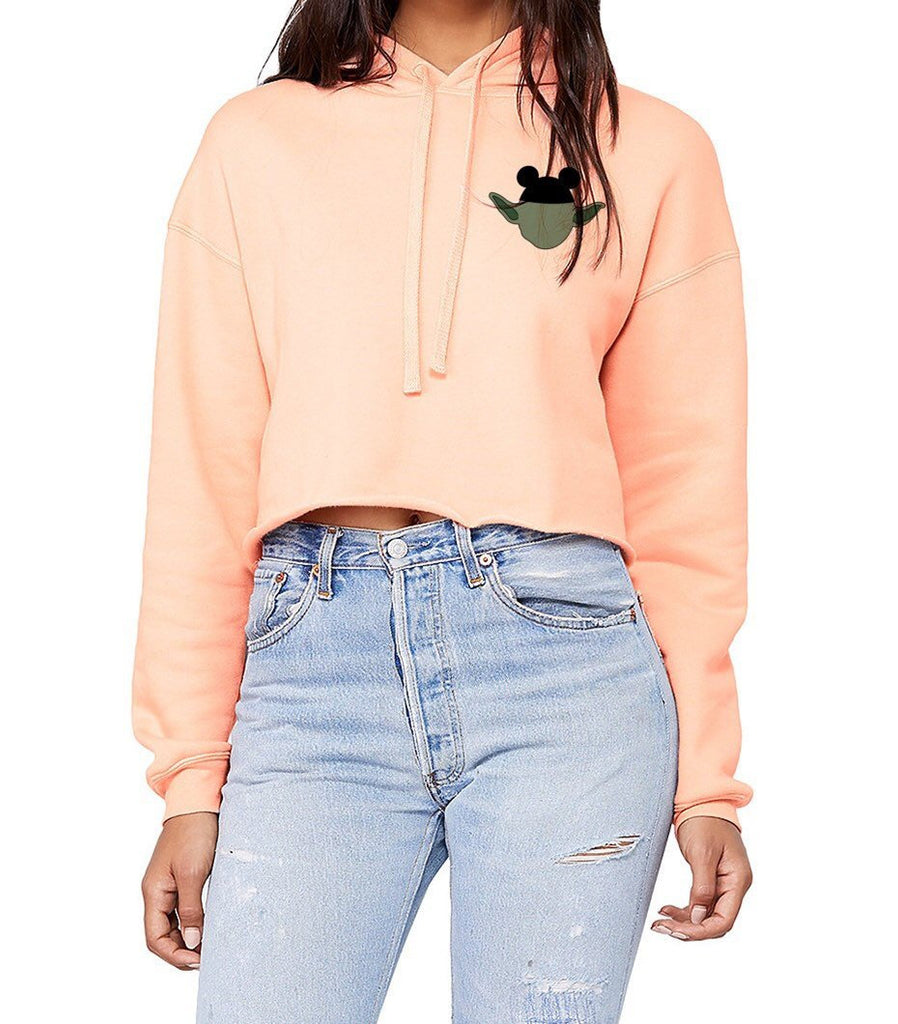 Mouse Ears Yoda Cropped Hoodie - pinksundays