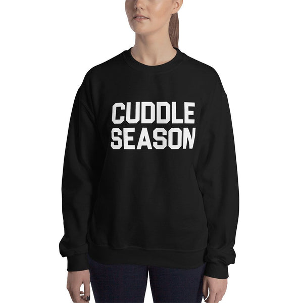Cuddle Season Sweater, winter sweatshirt, holiday sweater, cozy, comfy fleece lined sweaters, birthday gift, valentines gift, unisex fit