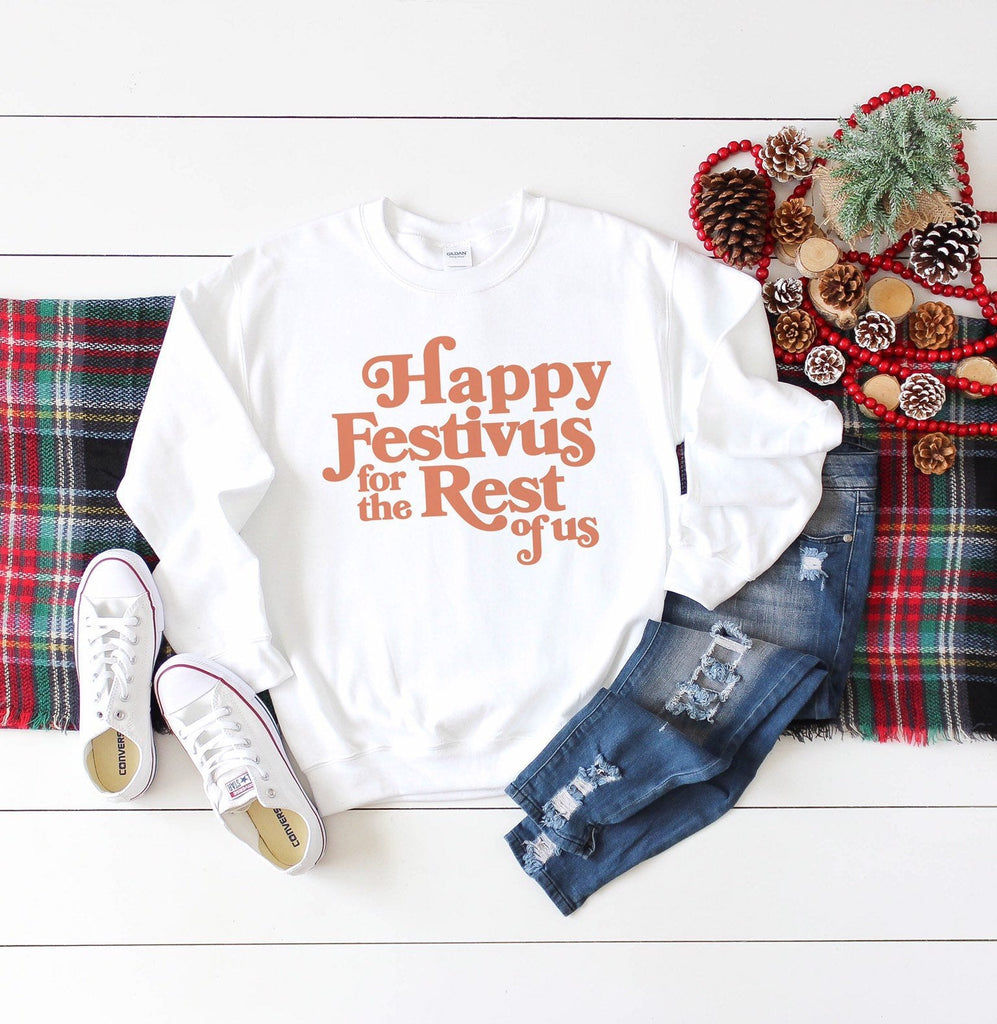 Happy Festivus For The Rest Of Us, graphic sweater, crewneck, tv show holiday sweater, 90s tv quotes, festivus sweatshirt, holiday gifts