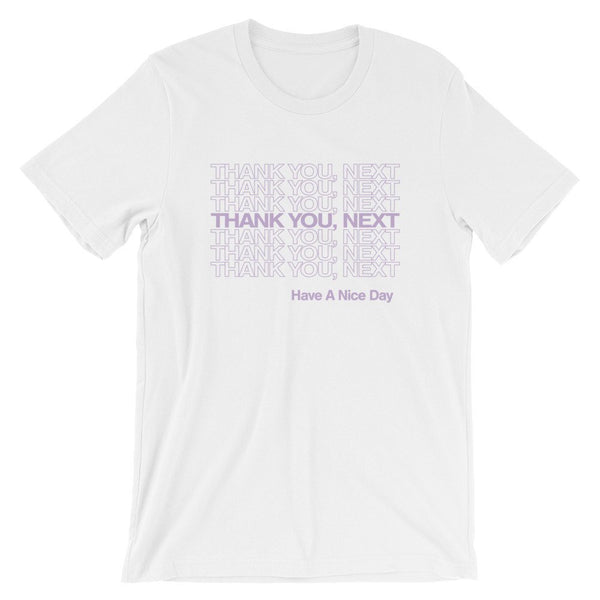 Thank You Next Graphic Tee, thank u next, cotton tshirt, unisex fit, ariana grande shirt, ariana concert tee, lilac, gift idea, girl power