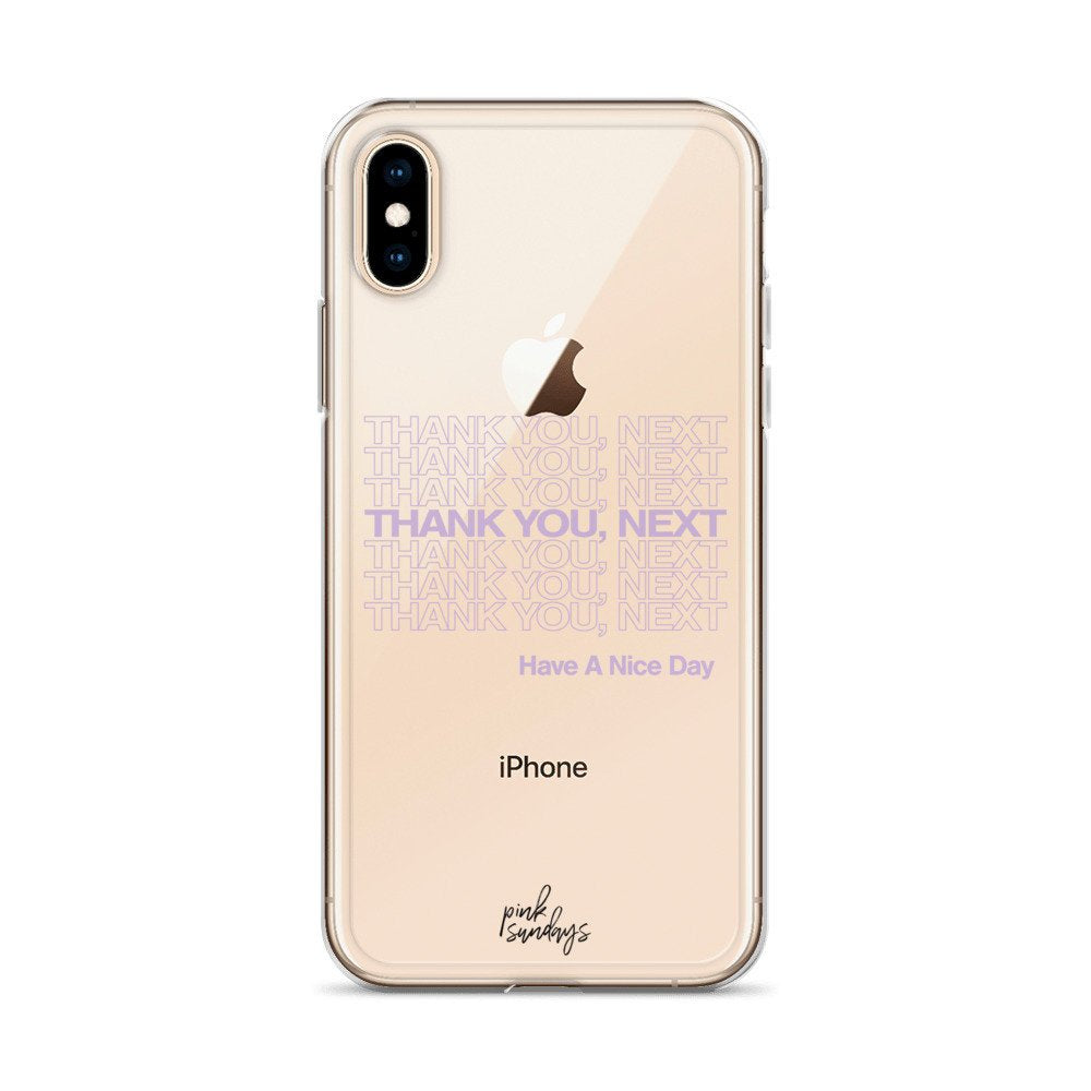 Thank You Next Clear Iphone Case, Ariana Grande Phone Case, lilac, thank u next, music phone case, stocking stuffer ideas, gift, phone cases