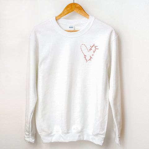 My Heart Belongs To Peter Kavinsky Sweater, to all the boys sweater, pocket detail, valentines day sweater, valentines gift, cozy sweater