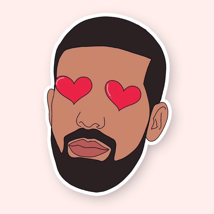 Heart Eyes Drake Sticker - pinksundays
