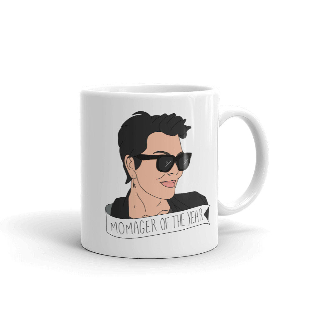 Momager Of The Year Mug, Kris Jenner Mug, mothers day gift, momager gift, funny mothers day mugs, kardashians, new mom gift, illustration