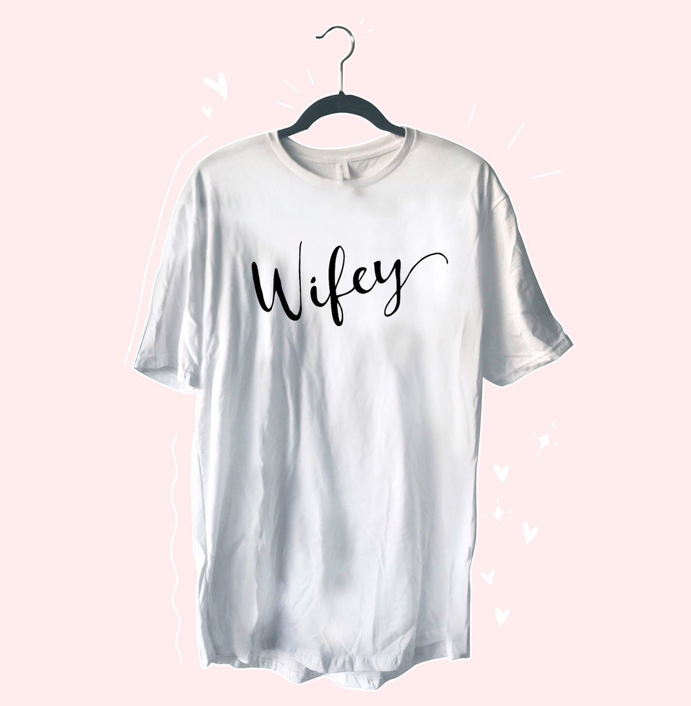 Wifey Oversized T-Shirt Dress - pinksundays