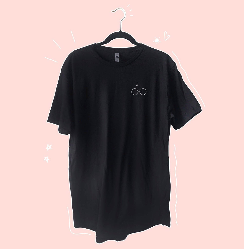 Wizard Glasses Oversized T-Shirt Dress - pinksundays