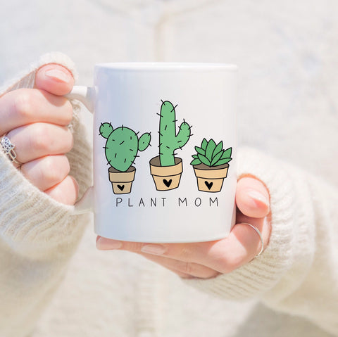 Plant Mom Mug, plant lady mug, coffee mug, plant lover, mothers day, plant mom gift, cactus mug, succulent mug, gift for plant lover