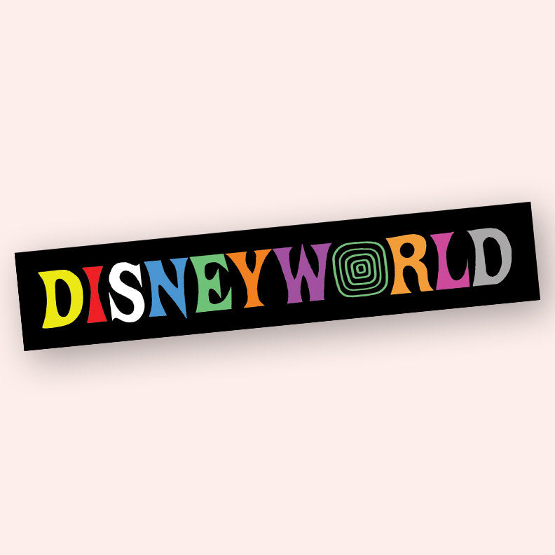 DisneyWorld AstroWorld Crossover Sticker, disney sticker, laptop stickers, birthday gift, gift idea, logo parody sticker, laptop accessories