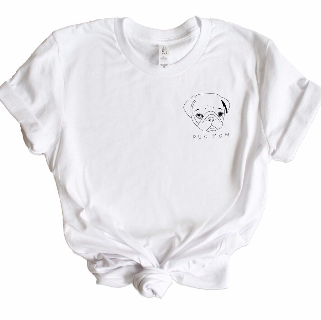 Pug Mom Graphic Tee - pinksundays