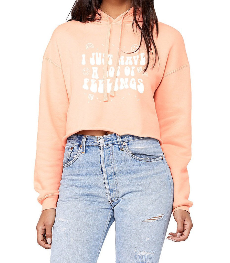 I Just Have a Lot Of Feelings Cropped Hoodie - pinksundays