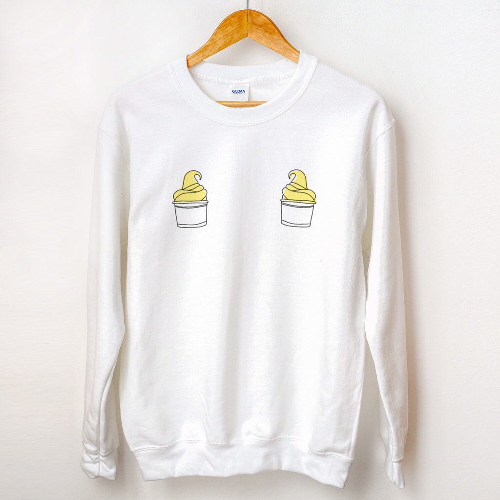 Dole Whip Boobs Graphic Sweatshirt, dole whip sweater, disney sweater, crewneck pullover, gift idea, disney snack sweatshirt, funny sweaters