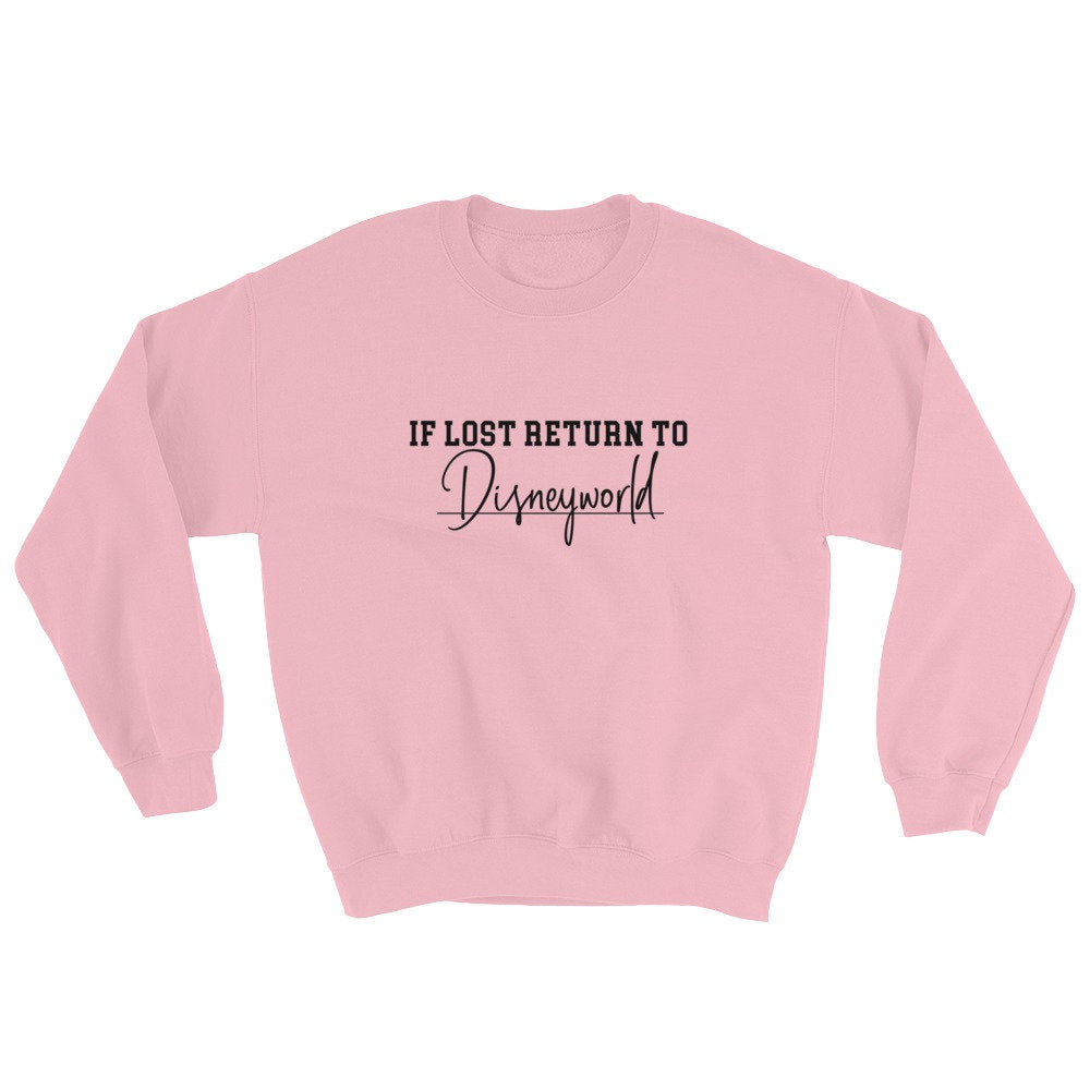 If Lost Return To World Sweater - pinksundays